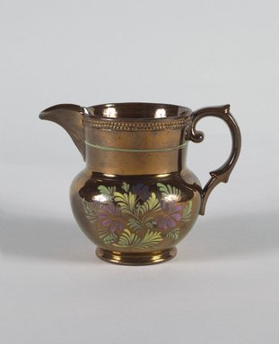 Creamer, ca. 1820. Copper, 4 5/16 in. (11 cm). Brooklyn Museum, Gift of Florence Stone Harder, 60.134.13. Creative Commons-BY