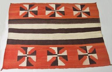 Navajo (Native American). Chief's Blanket, ca. 1880. Wool, dye, 66 9/16 x 47 5/8 in.  (169.0 x 121.0 cm). Brooklyn Museum, Gift of Thomas Watters, Jr., 60.145.1. Creative Commons-BY
