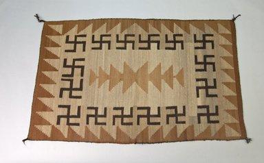Navajo (Native American). Rug. Wool, dye, 57 1/16 x 35 5/8in. (145 x 90.5cm). Brooklyn Museum, Gift of Thomas Watters, Jr., 60.145.6. Creative Commons-BY