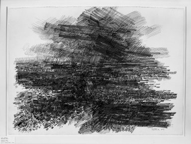 Gabor Peterdi (American, born Hungary, 1915-2001). Storm I, 1959. Ink on paper, 26 x 36 in. (66 x 91.4 cm). Brooklyn Museum, Dick S. Ramsay Fund, 60.16. © Estate of Gabor Peterdi