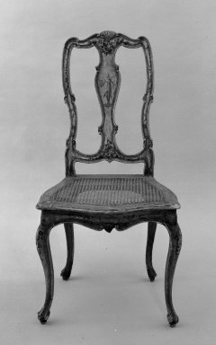 Side Chair. Painted wood, 41 x 22 x 24 in. (104.1 x 55.9 x 61 cm). Brooklyn Museum, Gift of Joseph Kane, 60.183. Creative Commons-BY