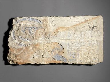 Brooklyn Museum: Relief of Queen Nefertiti Kissing One of Her Daughters. Charles Edwin Wilbour Fund.