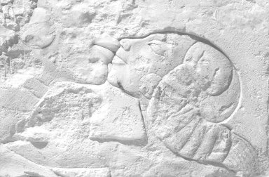 Relief of Queen Nefertiti Kissing One of Her Daughters, ca. 1352-1336 B.C.E. Limestone, painted, 8 3/4 x 1 5/16 x 17 1/2 in. (22.2 x 3.4 x 44.5 cm). Brooklyn Museum, Charles Edwin Wilbour Fund, 60.197.8. Creative Commons-BY