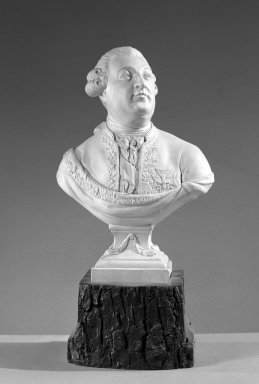 Possibly Neale & Company. Bust on Plinth, ca. 1785. Possibly porcelain, 8 x 5 3/8 x 2 3/4 in. (20.3 x 13.7 x 7 cm). Brooklyn Museum, Gift of Emily Winthrop Miles, 60.198.17. Creative Commons-BY