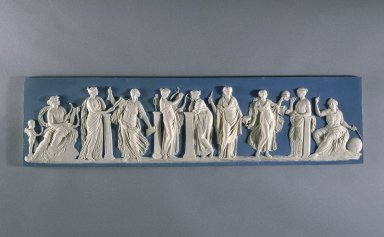 Wedgwood & Bentley (1759-present). Plaque, ca.1775. Stoneware, 6 1/2 x 25 1/2 in. (16.5 x 64.8 cm). Brooklyn Museum, Gift of Emily Winthrop Miles, 60.198.1. Creative Commons-BY