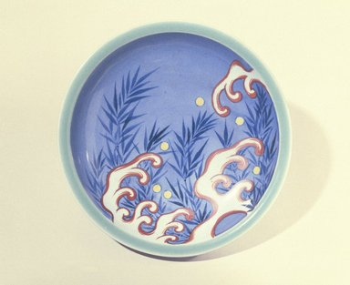Bowl, 18th century or later. Porcelain with green and cobalt underglaze and overglaze enamel decoration, 2 3/16 x 8 1/8 in. (5.5 x 20.6 cm). Brooklyn Museum, Museum Collection Fund, 60.202. Creative Commons-BY