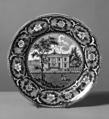 John and William Ridgway (active 1814-1830). Plate, ca. 1820. Earthenware, 8 1/4 in. (21 cm). Brooklyn Museum, Gift of Mrs. William C. Esty, 60.213.162. Creative Commons-BY
