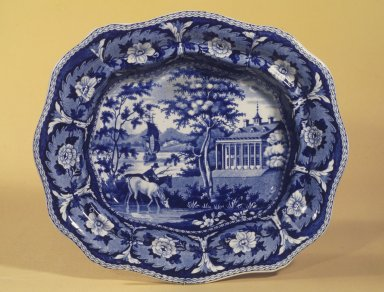 John and William Ridgway (active 1814-1830). Vegetable Dish, ca. 1825. Earthenware, 9 3/4 x 11 1/4 in. (24.8 x 28.6 cm). Brooklyn Museum, Gift of Mrs. William C. Esty, 60.213.170. Creative Commons-BY