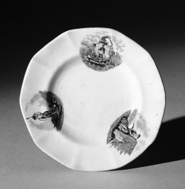 Mellor Venables & Company. Cup Plate (white), ca. 1850. Earthenware, 3 7/8 in. (9.8 cm). Brooklyn Museum, Gift of Mrs. William C. Esty, 60.213.7. Creative Commons-BY