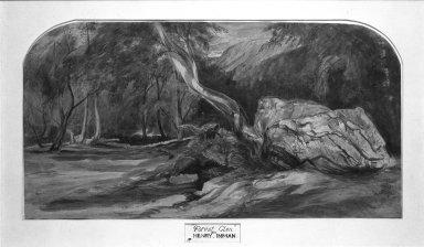 Henry Inman (American, 1801-1846). Forest Glen. Watercolor Brooklyn Museum, Gift of Ferdinand Davis, 60.214