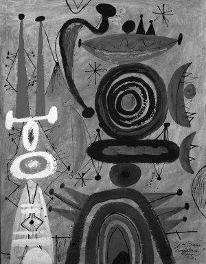 Byron Browne (American, 1907-1961). Carnival, 1952. Gouache Brooklyn Museum, Gift of Dr. Emanuel Klein, 60.215.6. © Estate of Byron Browne