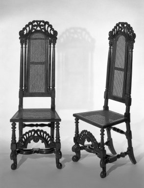 High-back Side Chair. Walnut Brooklyn Museum, Gift of Mrs. Cheever Porter, 61.115.2. Creative Commons-BY