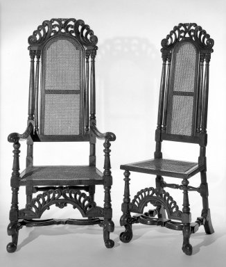 High-back Side Chair. Walnut Brooklyn Museum, Gift of Mrs. Cheever Porter, 61.115.4. Creative Commons-BY