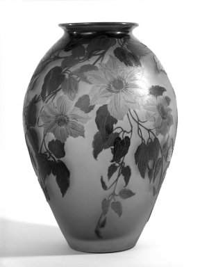 Emile Gallé (French, 1846-1904). Vase. glass Brooklyn Museum, Gift of Mr. and Mrs. Samuel Schwartz, 61.116. Creative Commons-BY