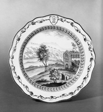 """Plate, 1774., 10"""" dia. Brooklyn Museum, Gift of Emily Winthrop Miles, 61.199.5. Creative Commons-BY"""