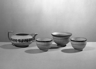 Wedgwood (1759-present). Miniature Tea Bowl, ca. 1800. Stoneware, Height x Diameter of Tea Bowl: 1 1/4 x 1 15/16 in. (3.2 x 4.9 cm). Brooklyn Museum, Gift of Emily Winthrop Miles, 61.199.66. Creative Commons-BY