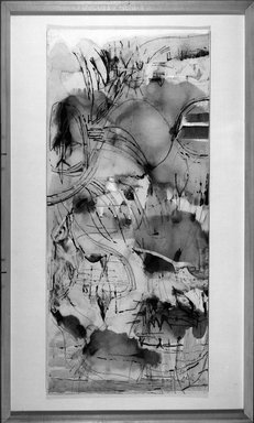 Worden Day (American, 1916-1986). Magnetic Tide, 1961. Drawing with collage and ink on paper, 36 x 16 1/8 in. (91.4 x 41 cm). Brooklyn Museum, Dick S. Ramsay Fund, 61.213. © Estate of Worden Day