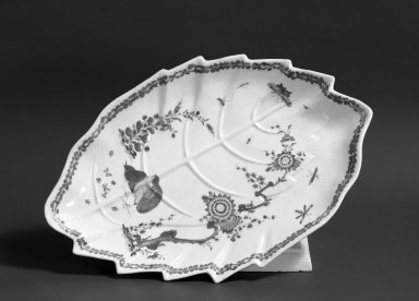 Leaf-Form Dish, ca. 1755. Brooklyn Museum, Gift of Pearl and Donald S. Morrison, 61.232.14. Creative Commons-BY