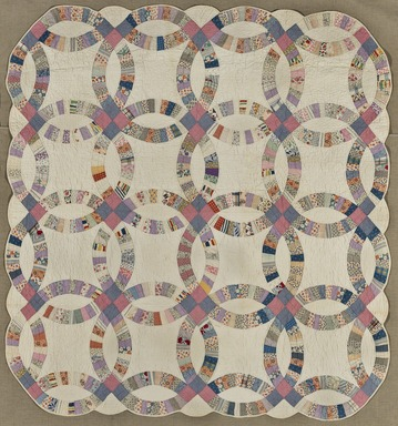 Brooklyn Museum: Double Wedding Ring Quilt