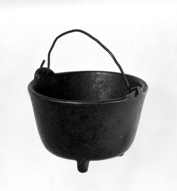 American. Miniature Cooking Pot. Iron, 1 3/8 x 1 7/8 in. (3.5 x 4.8 cm). Brooklyn Museum, Gift of Mrs. Bergen Glover, 61.81.5. Creative Commons-BY