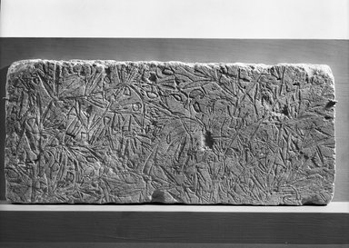 Relief of Vetch Plant, ca. 1352-1336 B.C.E. Limestone, painted, 9 x 20 11/16 in. (22.8 x 52.5 cm). Brooklyn Museum, Charles Edwin Wilbour Fund, 61.86. Creative Commons-BY