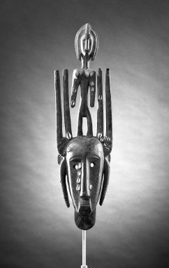 Bamana. N'Tomo Mask, late 19th-early 20th century. Wood, 25 3/4 x 6 3/4 x 5 in. (65.3 x 17.2 x 12.7 cm). Brooklyn Museum, Gift of E.R. Squibb and Sons, 61.91.3. Creative Commons-BY
