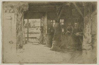 James Abbott McNeill Whistler (American, 1834-1903). The Mill. Etching, 6 3/8 x 9 1/2 in. (16.2 x 24.1 cm). Brooklyn Museum, Gift of Dr. and Mrs. Frank L. Babbott, Jr., 62.110.6