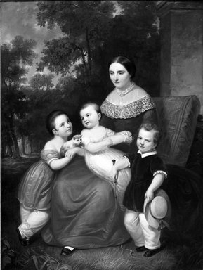Daniel Huntington (American, 1816-1906). Ellen Almira Low and Her Three Children, 1847. Oil on canvas, 64 x 53 15/16 in. (162.5 x 137 cm). Brooklyn Museum, Gift of Mrs. William Raymond, 62.155