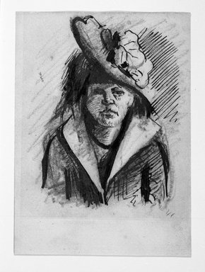 Vincent van Gogh (Dutch, 1853-1890). Portrait of a Woman with Hat. Pen, ink, pencil on wove paper, 5 1/8 x 3 3/4 in. (13 x 9.5 cm). Brooklyn Museum, Gift of Mr. and Mrs. Simon Askin, 62.182