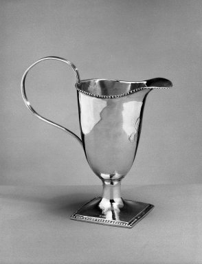 Creamer, ca. 1790. Silver, 5 3/4 in. (14.6 cm). Brooklyn Museum, Gift of Olive Hoyt, 62.28. Creative Commons-BY