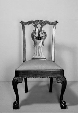 American. Side Chair, One of Set, ca. 1760 - 1770. Carved mahogany, Chippendale style, 33 1/2 x 24 x 21 1/2 in. (85.1 x 61 x 54.6 cm). Brooklyn Museum, Dick S. Ramsay Fund, 62.3.2. Creative Commons-BY