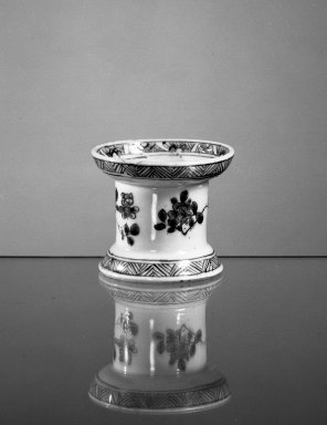 Pounce Pot, ca. 1661 - 1722. Porcelain, 2 1/2 x 2 7/8 in. (6.4 x 7.3 cm). Brooklyn Museum, Gift of H. Randolph Lever in memory of Mary E. Lever, 62.78.17. Creative Commons-BY
