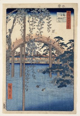 Brooklyn Museum: Inside Kameido Tenjin Shrine, from One Hundred Famous Views of Edo