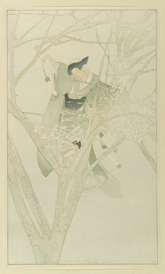 Bertha Lum (American, 1879-1954). Yuki-Anna, The Frost Fairy, 1916. Color woodcut on cream, thin, laid Japan paper, Sheet: 17 5/8 x 10 1/2 in. (44.8 x 26.7 cm). Brooklyn Museum, Gift of the Achenbach Foundation for Graphic Arts, 63.108.1. © Estate of Bertha Lum