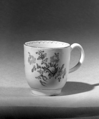 Lowestoft Porcelain Factory. Coffee Cup. Porcelain Brooklyn Museum, Gift of H. Randolph Lever, 63.143.13. Creative Commons-BY