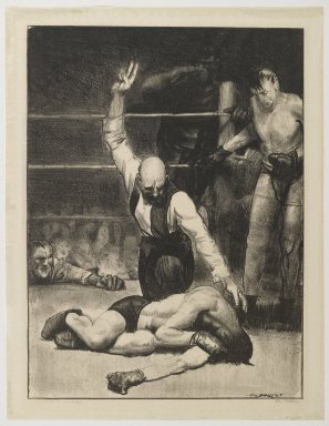 George Wesley Bellows (American, 1882-1925). Counted Out No. 2, 1921. Lithograph on thin wove paper, Sheet: 17 1/8 x 13 3/16 in. (43.5 x 33.5 cm). Brooklyn Museum, Gift of Chester Dale, 63.155.1
