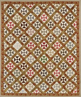 Brooklyn Museum: Maltese Cross Quilt