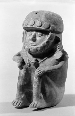 Chancay. Warrior Figure, 12th-13th century. Ceramic, (26.0 x 17.5 cm). Brooklyn Museum, Charles Stewart Smith Memorial Fund, 63.55.2. Creative Commons-BY