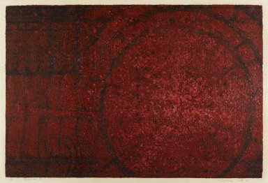 Kazutoshi Sugiura. Chaos No. 8, 1961. Serigraph on paper, 18 7/8 x 28 1/8 in. (47.9 x 71.4 cm). Brooklyn Museum, Carll H. de Silver Fund, 63.67.1. © Kazutoshi Sugiura