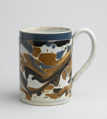 Mug. Earthenware, 3 3/4 x 4 x 2 3/4 in. (9.5 x 10.2 x 7 cm). Brooklyn Museum, Gift of Al Lewis, 63.93.12. Creative Commons-BY