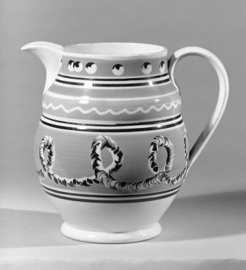 Jug. Earthenware, glazed Brooklyn Museum, Gift of Al Lewis, 63.93.2. Creative Commons-BY