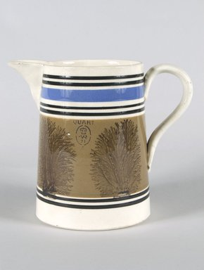 Jug. Mocha ware Brooklyn Museum, Gift of Al Lewis, 63.93.4. Creative Commons-BY