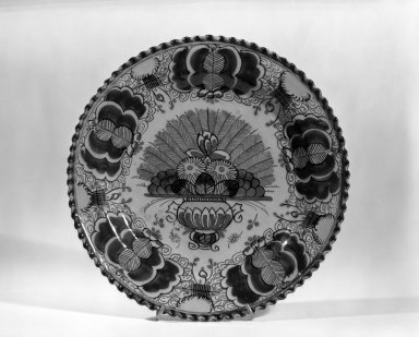 Plate - One of Set of Six. Earthenware, tin glaze Brooklyn Museum, Purchased with funds given by anonymous donors, 63.99.4. Creative Commons-BY