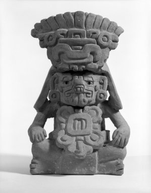 Zapotec. Effigy Urn. Clay Brooklyn Museum, Gift of Mrs. William Boruff and Richard Helm in memory of Arthur H. Walker, 63.9. Creative Commons-BY