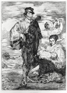 Édouard Manet (French, 1832-1883). The Gypsies (Les Gitanos), 1862. Etching on Chine colle paper, Sheet: 17 1/2 x 13 5/8 in. (44.5 x 34.6 cm). Brooklyn Museum, Gift of The Louis E. Stern Collection, 64.101.274