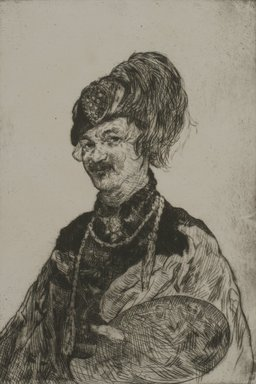 Jerome Myers (American, 1867-1940). Self Portrait, 1931. Etching, Sheet: 13 5/8 x 9 5/16 in. (34.6 x 23.7 cm). Brooklyn Museum, Gift of The Louis E. Stern Foundation, Inc., 64.101.283. © Estate of Jerome Myers