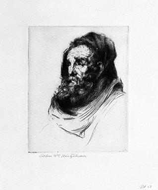 Arthur William Heintzelman (American, 1891-1965). Head with Black Drape, 1918. Etching Brooklyn Museum, Gift of The Louis E. Stern Foundation, Inc., 64.101.379