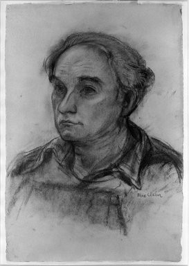 Max Weber (American, born Russia, 1881-1961). Portrait of William Zorach,  Sculptor, n.d. Charcoal on paper, Sheet: 19 5/16 x 13 1/8 in. (49.1 x 33.3 cm). Brooklyn Museum, Gift of Mr. and Mrs. Tessim Zorach, 64.102