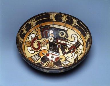 Totonac. Bowl, 900-1200. Ceramic, slip, 3 x 9 1/4 x 9 1/4 in. (7.6 x 23.5 x 23.5 cm). Brooklyn Museum, Ella C. Woodward Memorial Fund, 64.11. Creative Commons-BY