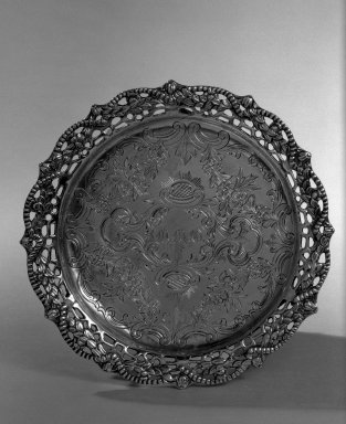 Hester Bateman (English, active in London, 1774-1789). Tray, ca. 1781-1782. Silver, 1 1/8 x 6 1/2 in. (2.9 x 16.5 cm). Brooklyn Museum, Gift of Mr. and Mrs. Frederick B. Hicks, 64.152.21. Creative Commons-BY